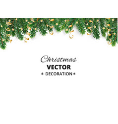 Winter holiday background border with christmas vector