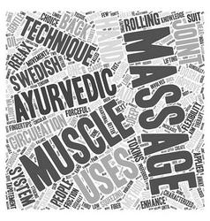 A choice between swedish and ayurvedic massage vector