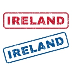 Ireland rubber stamps vector