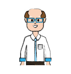 Happy man with glasses shirt and hairstyle vector