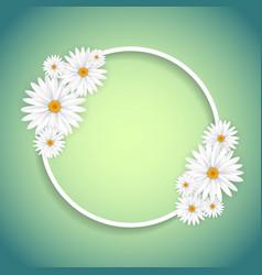 Decorative daisy frame vector