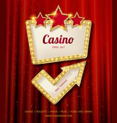 Shining casino banner vector