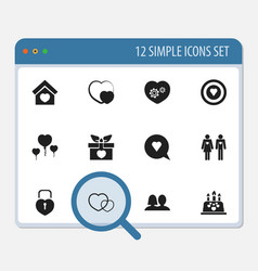 Set of 12 editable passion icons includes symbols vector