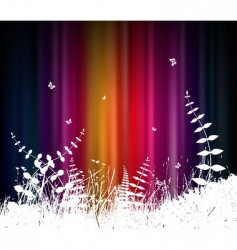 Abstract background with grass vector