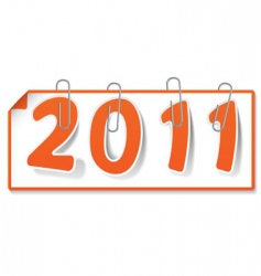 New year sign vector
