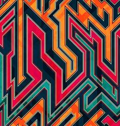 Fantastic maze seamless pattern vector
