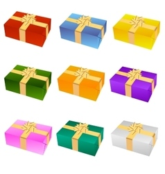 Nine gifts vector