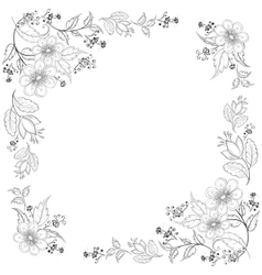 Flower background contours vector