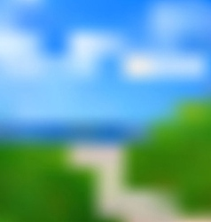 Summer beach path background vector