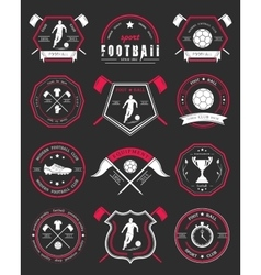 Set of football badge and logo vector