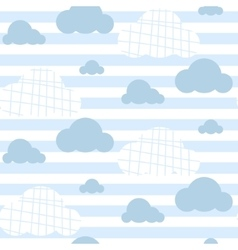Baby boy seamless pattern Light blue fun vector image