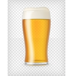 Realistic mug with beer vector