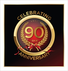 90 years anniversary label vector