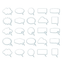 Empty speech bubbles icons vector
