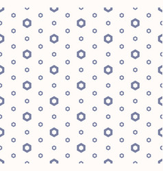 abstract geometric seamless pattern with hexagons vector image
