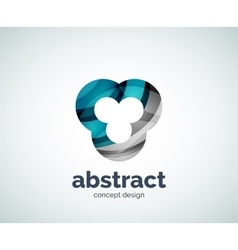 Abstruse shape logo template vector