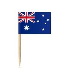 Australia flag toothpick on white background vector