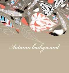 autumn leaf pattern vector image