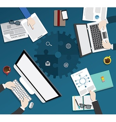 Business meeting flat design conceinfographic b209 vector