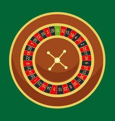 casino roulette wheel go round for risk game in vector image