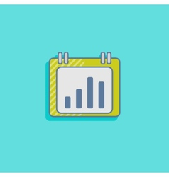 chart icon in flat design style infographic sign vector image
