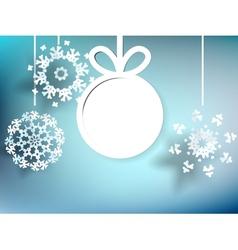 Christmas balls cut the paper eps10 vector