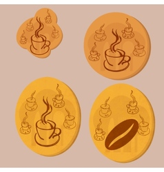 coffee gold coin vector image