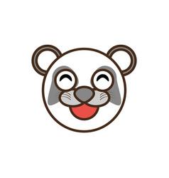 cute panda face kawaii style vector image vector image