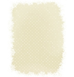 Elegant polka dot with snowflakes EPS 8 vector image vector image