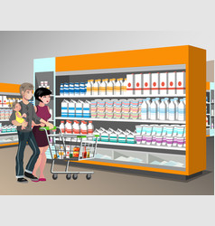 Family shopping desig vector
