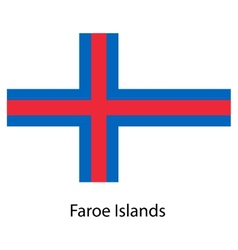 Flag of the country faroe islands vector image