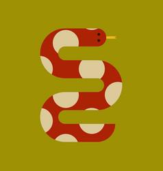 Flat icon stylish background wildlife snake vector