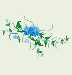 Folk flower ornament vector
