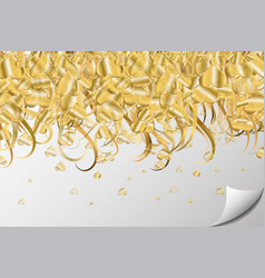 gold pattern or texture vector image vector image