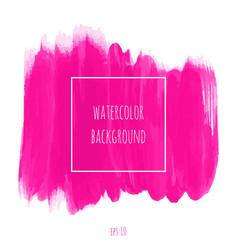 Hand drawn watercolor pink magenta texture vector