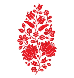 Hungarian red folk pattern - kalocsai embroidery vector