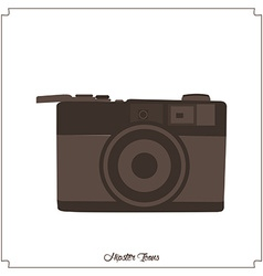 Isolated hipster icon vector image