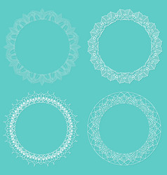 lace style borders vector image vector image