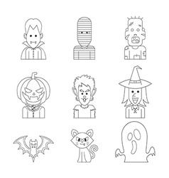 line icon halloween vector image vector image