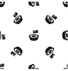 Little flag pattern seamless black vector
