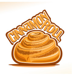 Logo for swedish cinnamon roll vector
