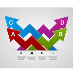 modern 3d arrows infographic design template vector image