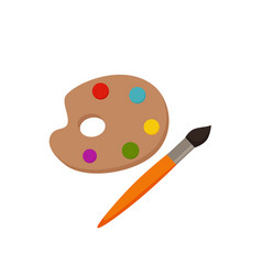 palette icon colorful vector image