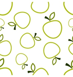 Pattern Circuit Apples vector image vector image
