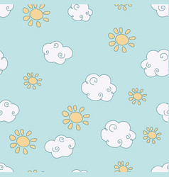 Pattern with clouds pattern with clouds vector
