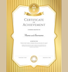 Portrait certificate of achievement templat vector
