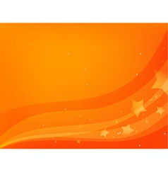 Red-orange background with stars vector