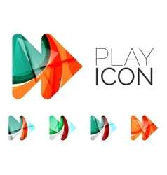 Set of abstract next play arrow icon business vector