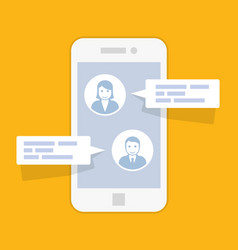 sms message service interface - texting conversa vector image