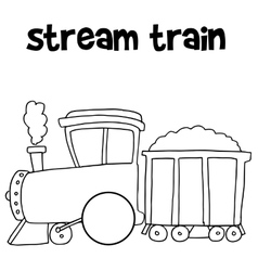 Stream train of art vector